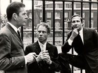 Image 12: John Cage, Merce Cunningham, and Robert Rauschenberg