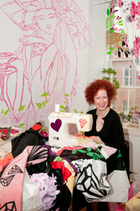 Image 07: Candy Coated in her studio