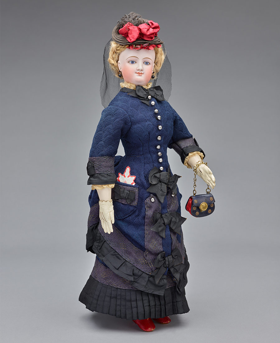 """Miss G. Townsend"" Fashion Doll, late 1860s–1870s"