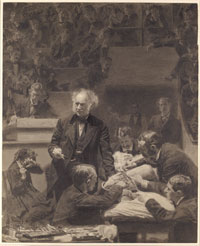 Eakins�s 1875-76 wash drawing after The Gross Clinic