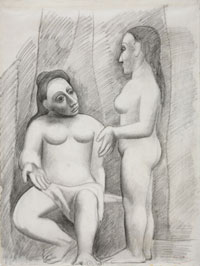 Seated Nude and Standing Nude