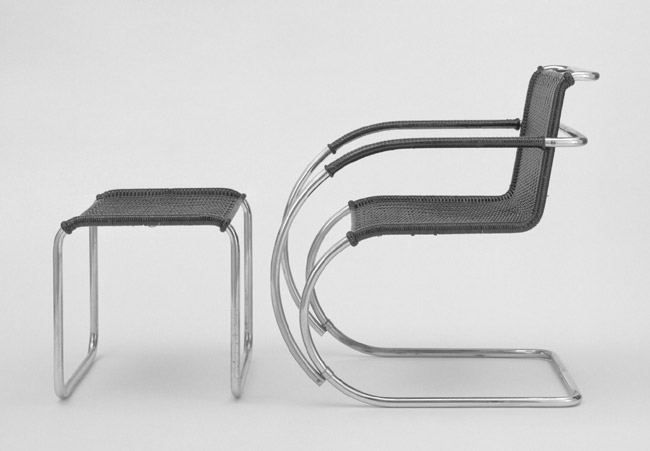 """MR20"" Armchair and Stool"
