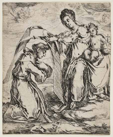 The Virgin Bestowing a Scapular on a Monk