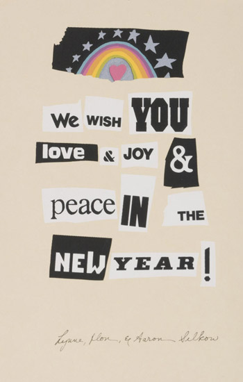 We wish you love & joy & peace in the New Year!