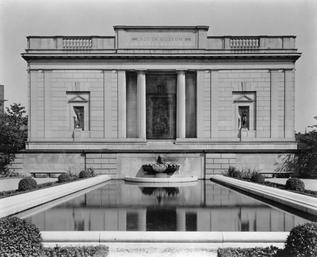 The Gates of Hell at the entrance to the Rodin Museum, Philadelphia, c.1930