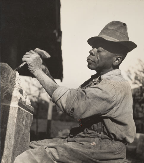 William Edmondson, Sculptor, Nashville, 1937