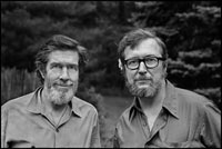 Image 14: John Cage and Jasper Johns in Stony Point