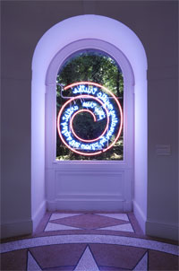 Image 10: Bruce Nauman, The True Artist Helps the World by Revealing Mystic Truths (Window or Wall Sign), 1967, neon