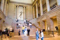 Image 02: Great Stair Hall of the Philadelphia Museum of Art with Diana