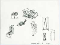 Image 02: Sketch of Cardboard Furniture and Fish