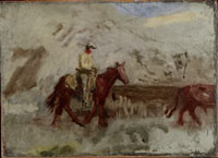 "Image 02: Study for ""Cowboys in the Badlands"""