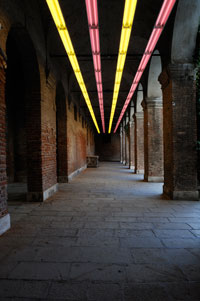 Image 14: Pink and Yellow Light Corridor (Variable Lights)