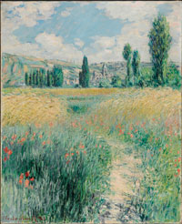Image 01: Path on the Island of Saint Martin, Vétheuil