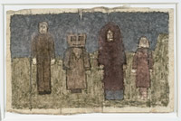 Image #18: Four standing figures, one with square head