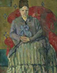 Image #02: Madame Cézanne in a Red Armchair
