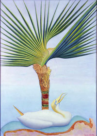 Image 19: Palm Tree and Bird