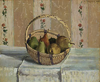 Image 11: Apples and Pears in a Round Basket