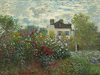 Image 06: The Artist's Garden in Argenteuil (A Corner of the Garden with Dahlias)