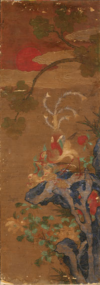 Image 02: A Pair of Phoenix and Peacock Paintings