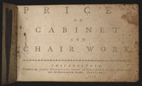Image 01: Prices of Cabinet and Chair Work, Philadelphia, 1772