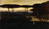 Image 08: Pines and Olives at Albano (The Monk)