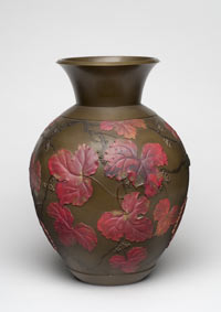 Image 01: Vase with Design of Ivy