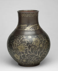 Image 03: Vase with Design of Scrolling Flowers