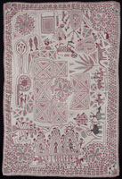 Image 03: Kantha (with auspicious objects, temple cart, and animals)