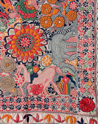 Image 06: Detail of the corner of a kantha