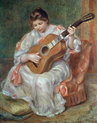 Image 03: Woman Playing a Guitar