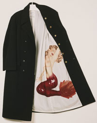 Image 04: Man's Coat with Mermaid Pinup Girl
