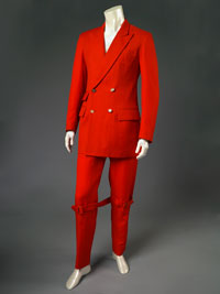 Image 07: Man's Bondage Suit: Jacket and Trousers with  Attached Knee Strap