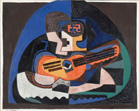 Image 08: Still Life with a Guitar and a Compote (The Mandolin)