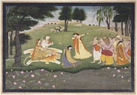 Image 03: The Gods Sing and Dance for Shiva and Parvati