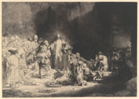 Image 12: The Hundred Guilder Print (Christ Preaching; Bring Thy Little Children unto Me)