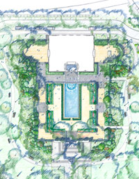Image 01: Rodin Garden Rejuvenation Plan Drawing courtesy OLIN
