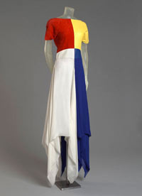 Image 09: Mondrian Meets Superman Long Dress