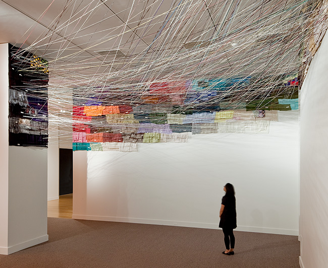 Unraveling, 2006�9, by Jean Shin (Artist�s collection). View of 2009 installation at the Smithsonian American Art Museum, Washington, DC. Image courtesy of the artist