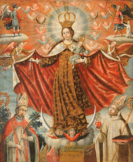 Our Lady of Mount Carmel with Bishop Saints