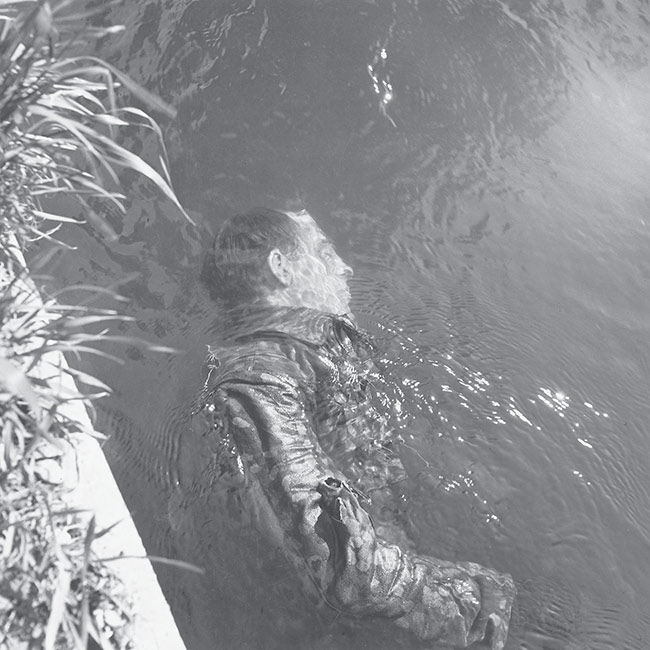 Dead SS Guard in the Canal