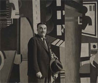 Fernand Léger with The City at the Philadelphia Museum of Art, May 1943, 1943, by Adrian Siegel (Philadelphia Museum of Art: Purchased with the Edgar Viguers Seeler Fund, 1951-108-4), 1943