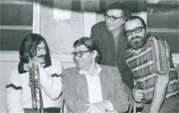 Enrico Rava, Morton Feldman, Lionello Gennero, and Pistoletto