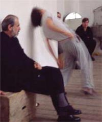 Pistoletto observes his students