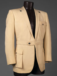Image 01: Man's Jacket with Removable Peplum and Insertable Pocket Flap