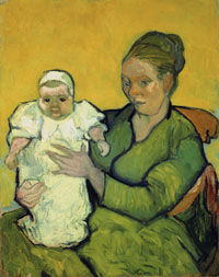 Portrait of Madame Augustine Roulin and Baby Marcelle