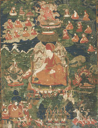 Sakya Raktayamari Initiation with Lineage and Landscape