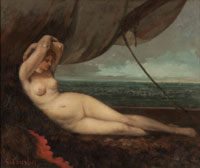 Nude Reclining by the Sea