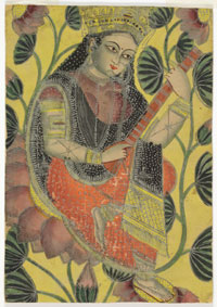 Souvenir Painting of the Goddess Sarasvati