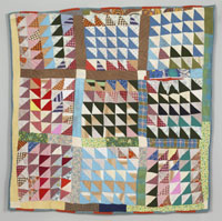 """Triangles in Squares"" Quilt"