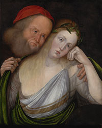 An Old Man and a Young Woman (The Nymph Agapes and Her Old Husband)